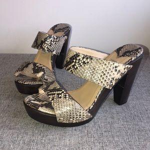 Jimmy Choo Snakeskin Heel Sandal